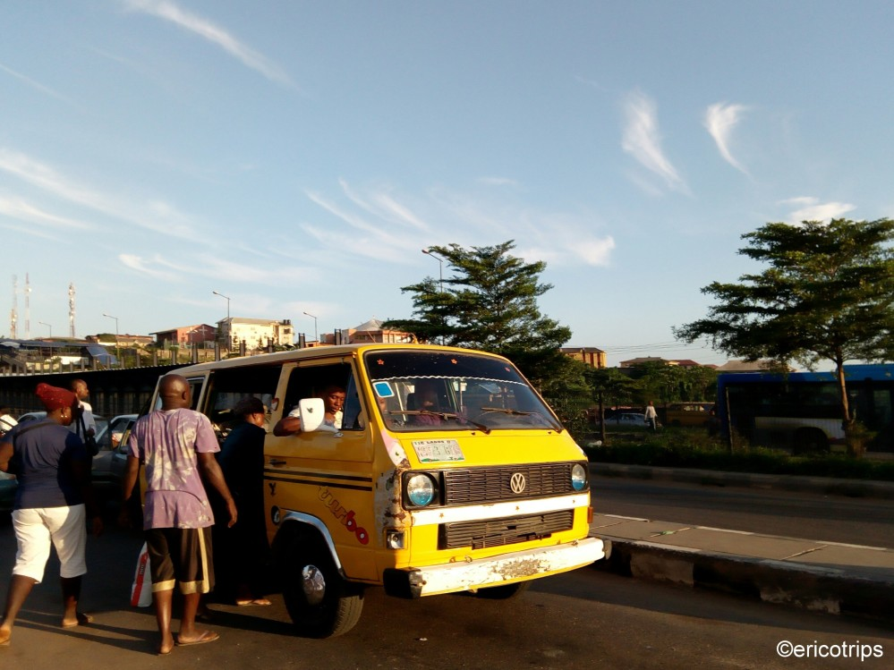 Boarding a Danfo Bus at Agric Bus Stop. Ikorodu Road